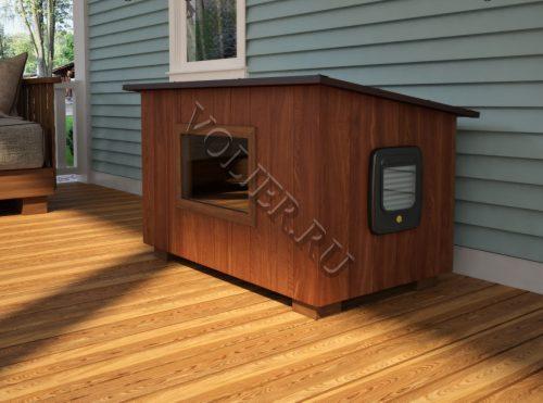 Деревянный домик для кошки Алекс