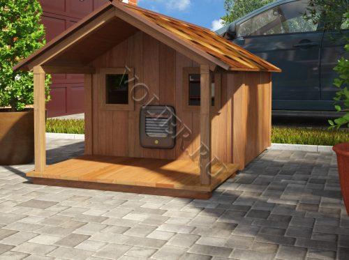 Деревянный домик для кошки Персик
