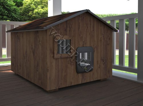 Деревянный домик для кошки Лаки