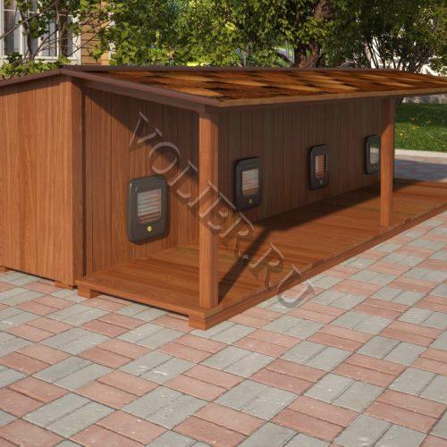 Многосекционный деревянный домик для кошки Феликс