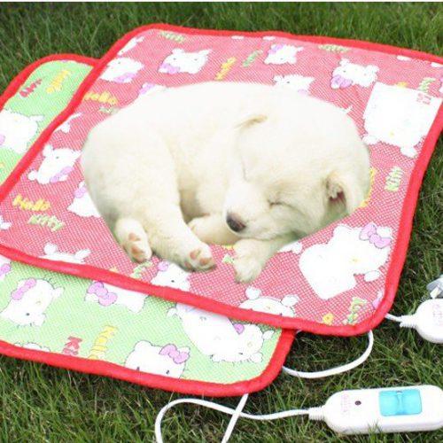Электрический теплый пол в будках для собак