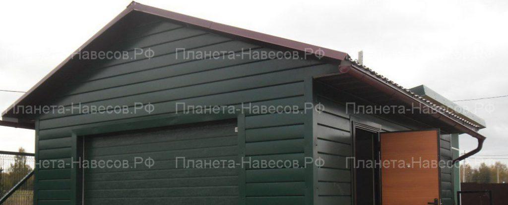Фасад гаража и различные варианты его отделки