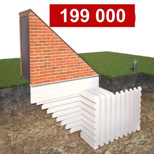 бесшовный пластиковый погреб Рекорд 2000х3000